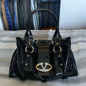 Authentic Valentino Handbag in Patent Black